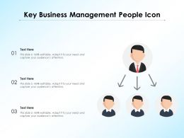 Key Business Management People Icon