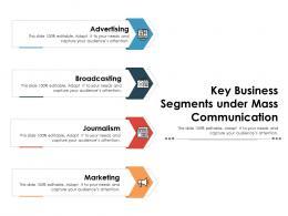 Key Business Segments Under Mass Communication
