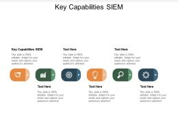 Key Capabilities SIEM Ppt Powerpoint Presentation Layouts Images Cpb