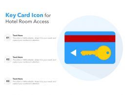 Key Card Icon For Hotel Room Access