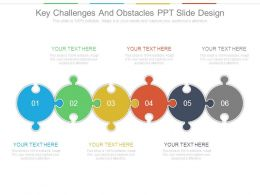 Key Challenges And Obstacles Ppt Slide Design