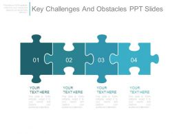 Key Challenges And Obstacles Ppt Slides