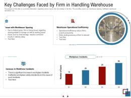 Key Challenges Faced By Firm In Handling Warehouse Warehousing Logistics Ppt Icons