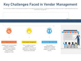 Key Challenges Faced In Vendor Management Relationships With Vendors Ppt Tips