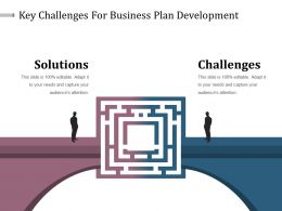 Key Challenges For Business Plan Development Powerpoint Slide Backgrounds