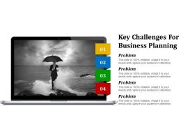 Key Challenges For Business Planning Powerpoint Slide Backgrounds