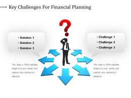 Key Challenges For Financial Planning Powerpoint Slide Deck