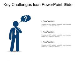 Key Challenges Icon Powerpoint Slide