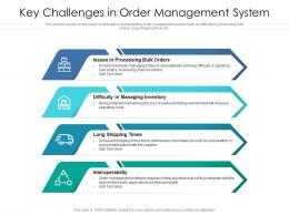 Key Challenges In Order Management System