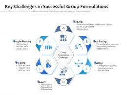 Key Challenges In Successful Group Formulations