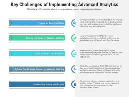 Key Challenges Of Implementing Advanced Analytics