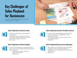 Key Challenges Of Sales Playbook For Businesses