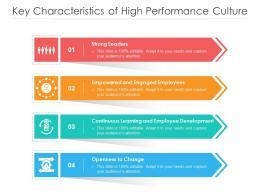 Key Characteristics Of High Performance Culture