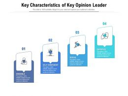 Key Characteristics Of Key Opinion Leader