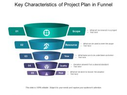 Key Characteristics Of Project Plan In Funnel