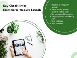 Key Checklist For Ecommerce Website Launch