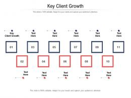 Key Client Growth Ppt Powerpoint Presentation Infographics Example Topics Cpb