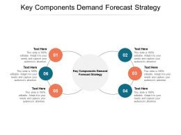 Key Components Demand Forecast Strategy Ppt Powerpoint Presentation Model Cpb