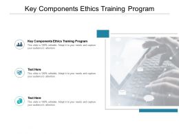 Key Components Ethics Training Program Ppt Powerpoint Presentation Slide Cpb