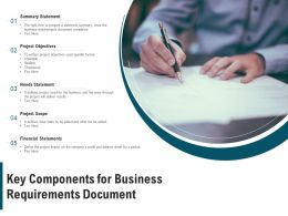 Key Components For Business Requirements Document
