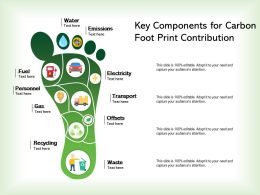 Key Components For Carbon Foot Print Contribution