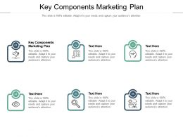 Key Components Marketing Plan Ppt Powerpoint Presentation Outline Diagrams Cpb