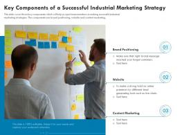 Key Components Of A Successful Industrial Marketing Strategy