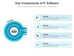 Key Components Of It Software Infographic Template