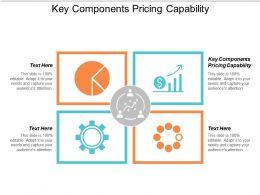 Key Components Pricing Capability Ppt Powerpoint Presentation Portfolio Good Cpb