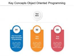 Key Concepts Of Object Oriented Programming Ppt Powerpoint Presentation Layouts Deck Cpb