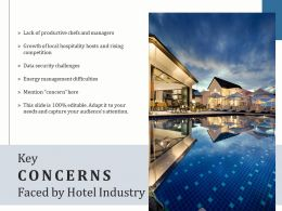Key Concerns Faced By Hotel Industry