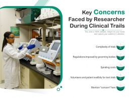Key Concerns Faced By Researcher During Clinical Trails