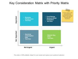 Key Consideration Matrix With Priority Matrix