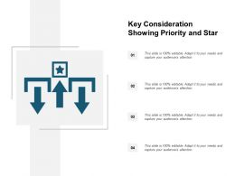 Key Consideration Showing Priority And Star
