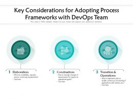 Key Considerations For Adopting Process Frameworks With Devops Team