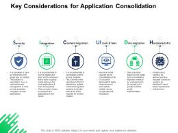 Key Considerations For Application Consolidation Security Integration Ppt Powerpoint Presentation