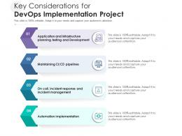 Key Considerations For DevOps Implementation Project