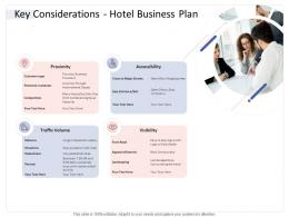 Key Considerations Hotel Business Plan Hospitality Industry Business Plan Ppt Rules
