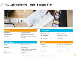 Key Considerations Hotel Business Plan Ppt Professional Templates