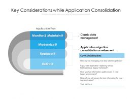 Key Considerations While Application Consolidation
