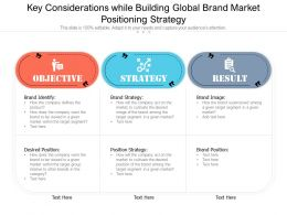 Key Considerations While Building Global Brand Market Positioning Strategy