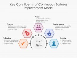 Key Constituents Of Continuous Business Improvement Model