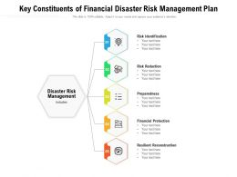 Key Constituents Of Financial Disaster Risk Management Plan