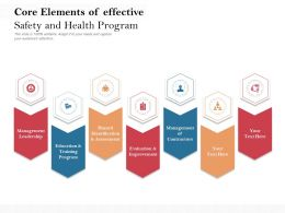 Key Core Elements Of Effective Safety And Health Program