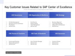 Key Customer Issues Related To Sap Center Of Excellence