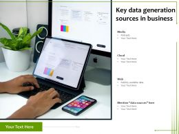 Key Data Generation Sources In Business