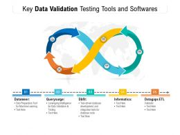 Key Data Validation Testing Tools And Softwares
