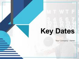 Key Dates Business Planning Important Circle Calendar Symbol Organization Journey