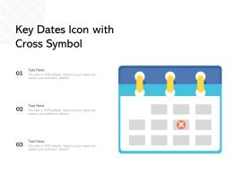 Key Dates Icon With Cross Symbol