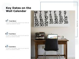 Key Dates On The Wall Calendar